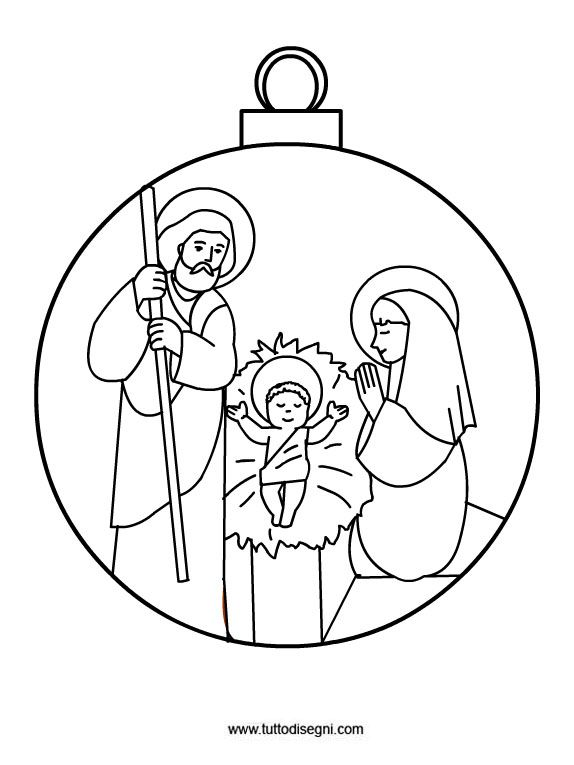 Decorazioni Di Natale Pallina Albero Di Natale Da Colorare