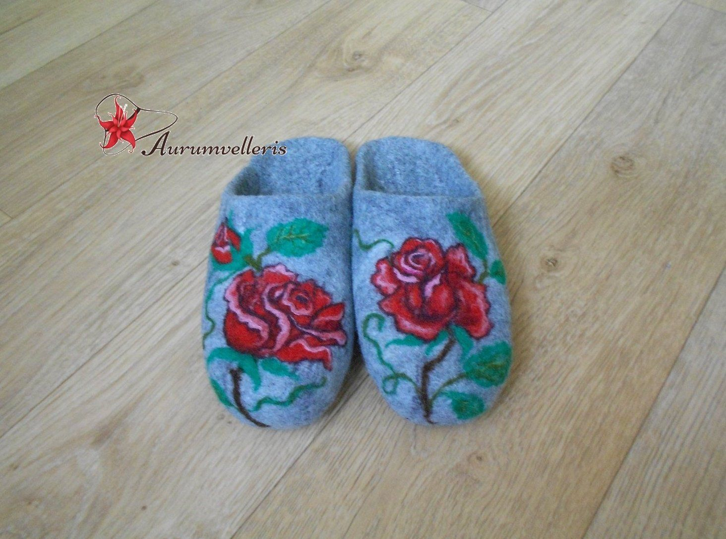 0cce140cf0e1c Felted Slippers READY TO SHIP Mothers day Slippers Wool Slippers Red ...