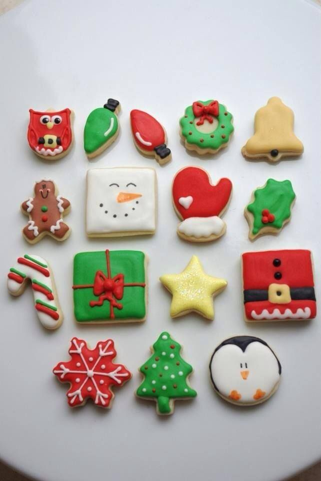 christmas cookies iced sugar cookiesdecorated - Pictures Of Decorated Christmas Sugar Cookies