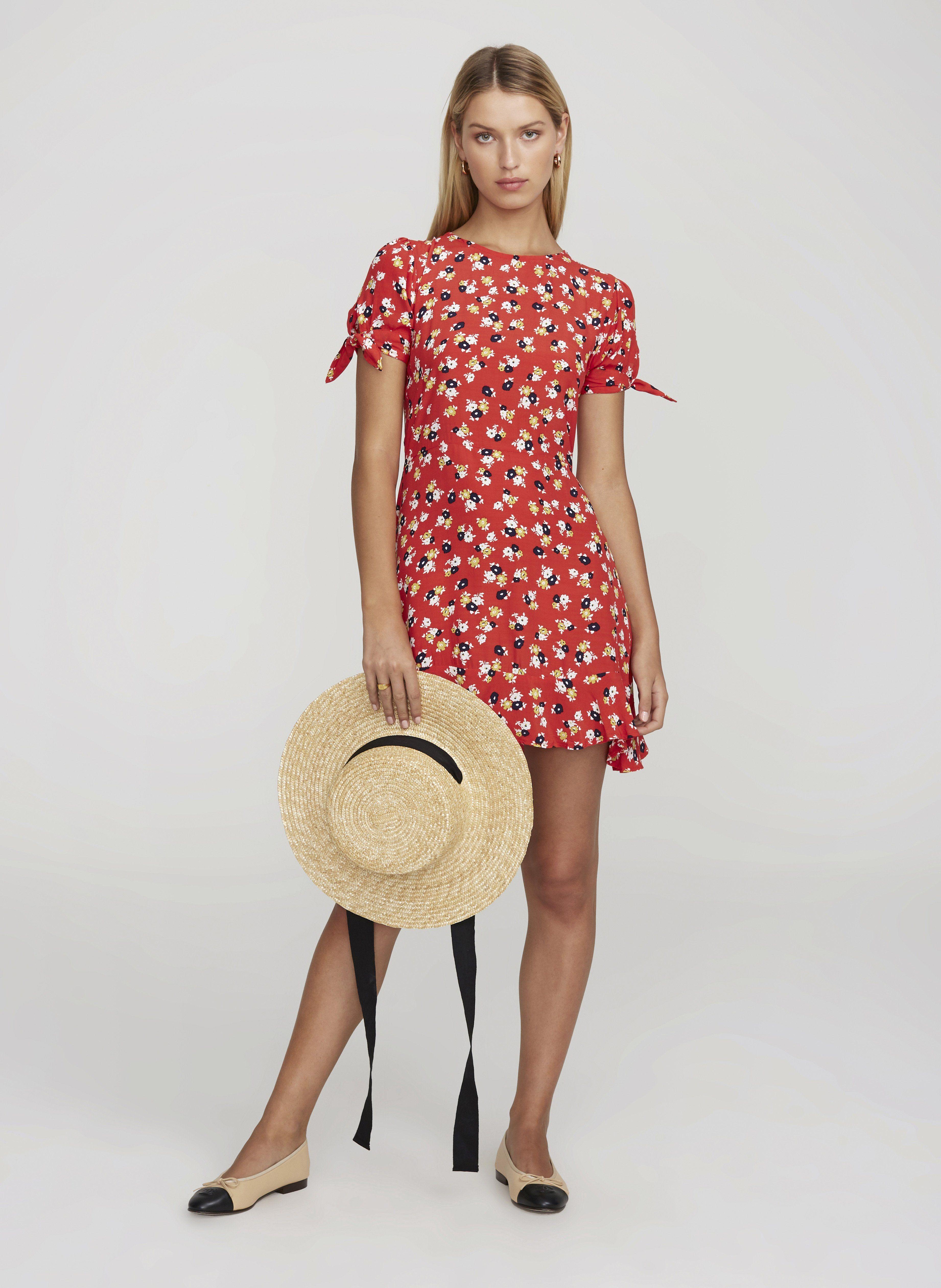 b58151c55af2 JASMINE FLORAL PRINT - RED - DAPHNE DRESS | FAITHFULL THE BRAND |  INTERNATIONAL