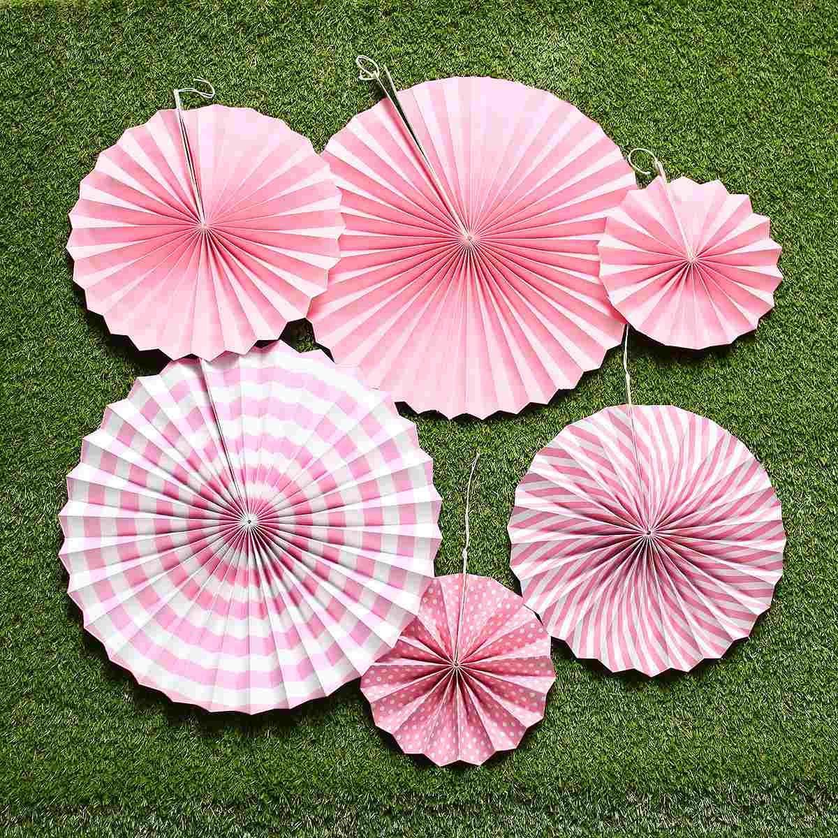 Paper Fan 6pcslot Wedding Decoration Crafts Flower Origami Home