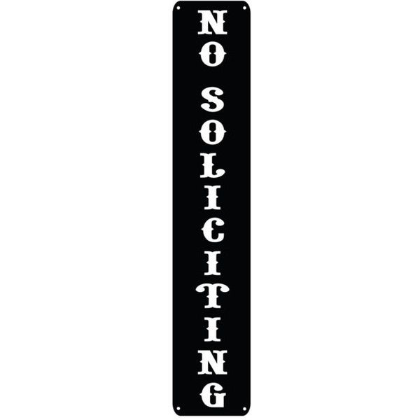 No Soliciting Business Sign Door Post Sign Soliciting Metal Sign ...