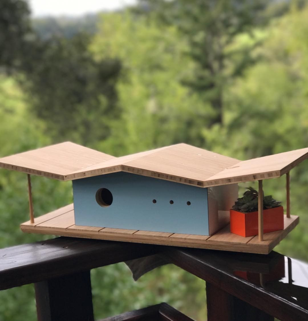 Midcentury Modern Birdhouses Why Not Curbed Modern Birdhouses Decorative Bird Houses Bird House