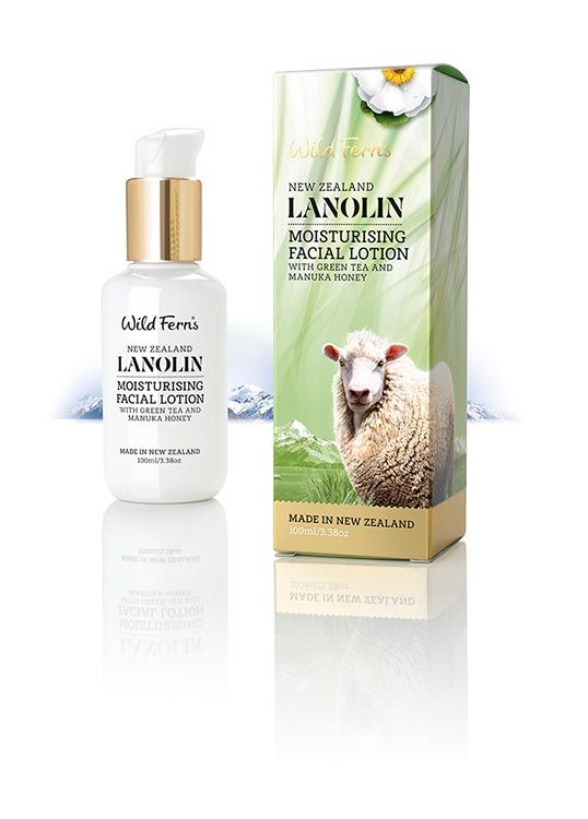 Lanolin Moisturising Facial Lotion with Green Tea and Manuka Honey