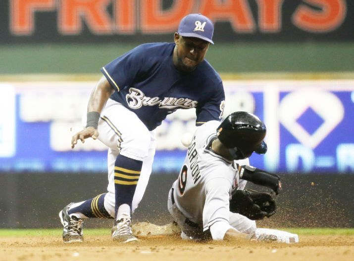 Miami Marlins vs. Milwaukee Brewers - Photos - August 17, 2015 - ESPN