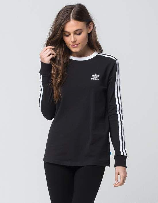 adidas 3 Stripes longsleeve black