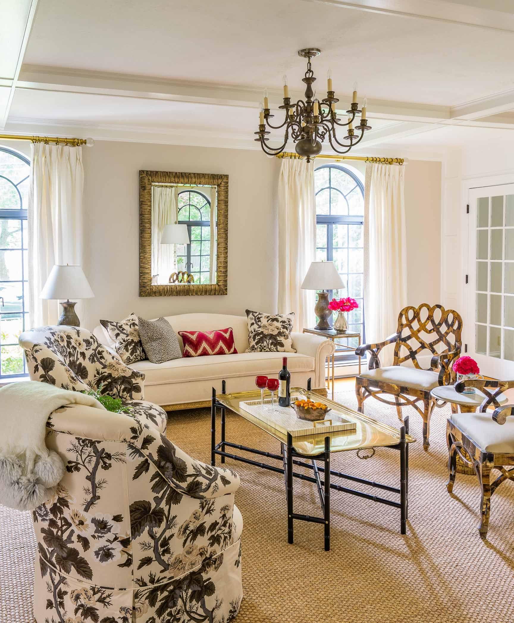 neutral base with pops of color. | Living room design ...