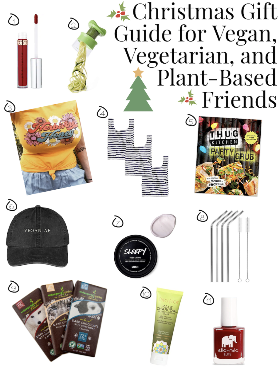 Christmas Gift Guide For Vegan Vegetarian And Plant Based Friends Vegetarian Gifts Christmas Gift Guide Gift Guide