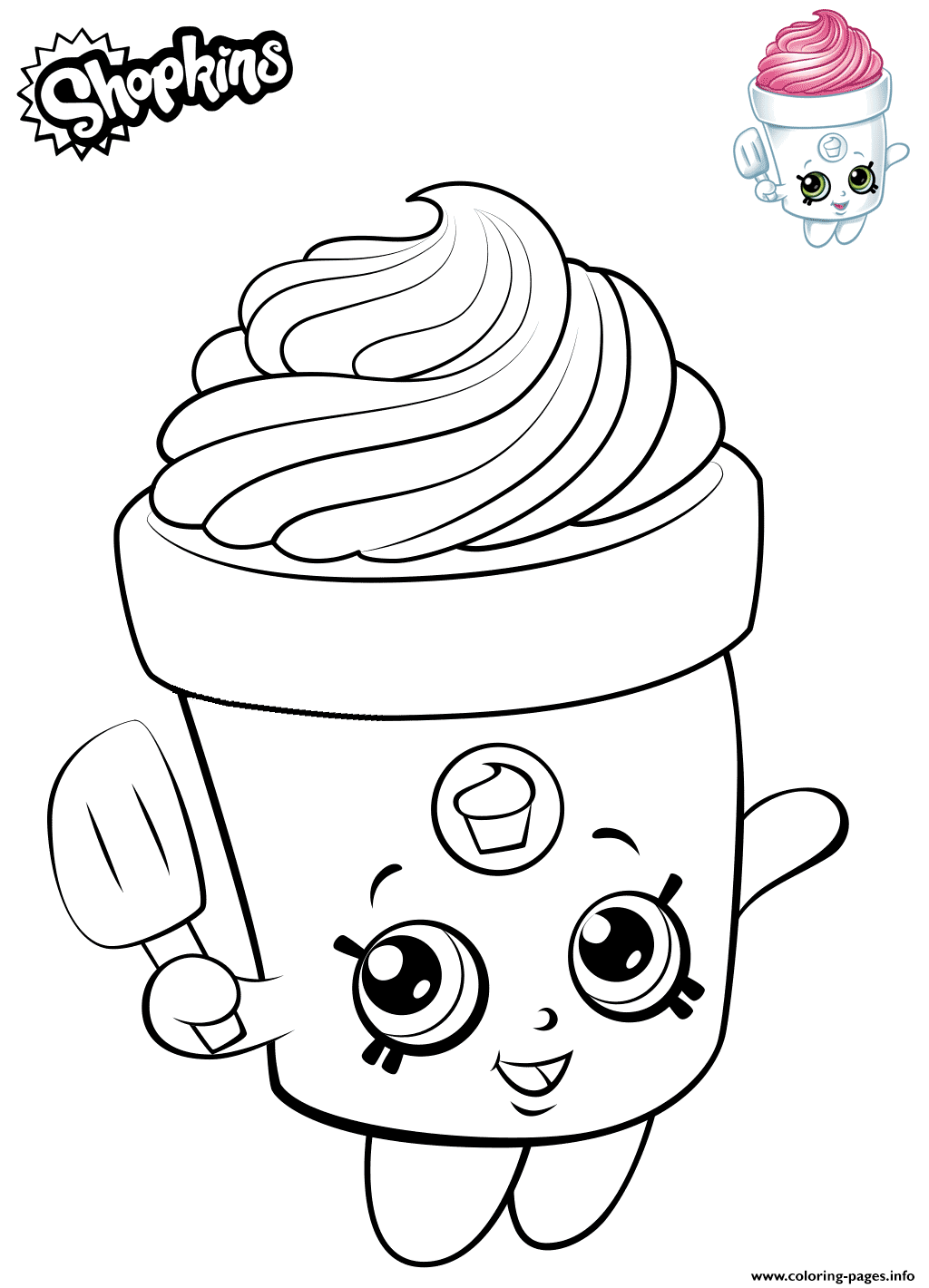 Print Cute Shopkins Freda Frosting Coloring Pages Shopkin Coloring Pages Shopkins Colouring Pages Cute Coloring Pages