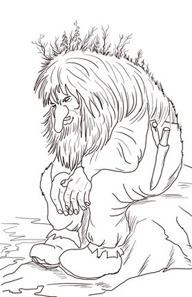 Bewitching image intended for free printable troll coloring pages