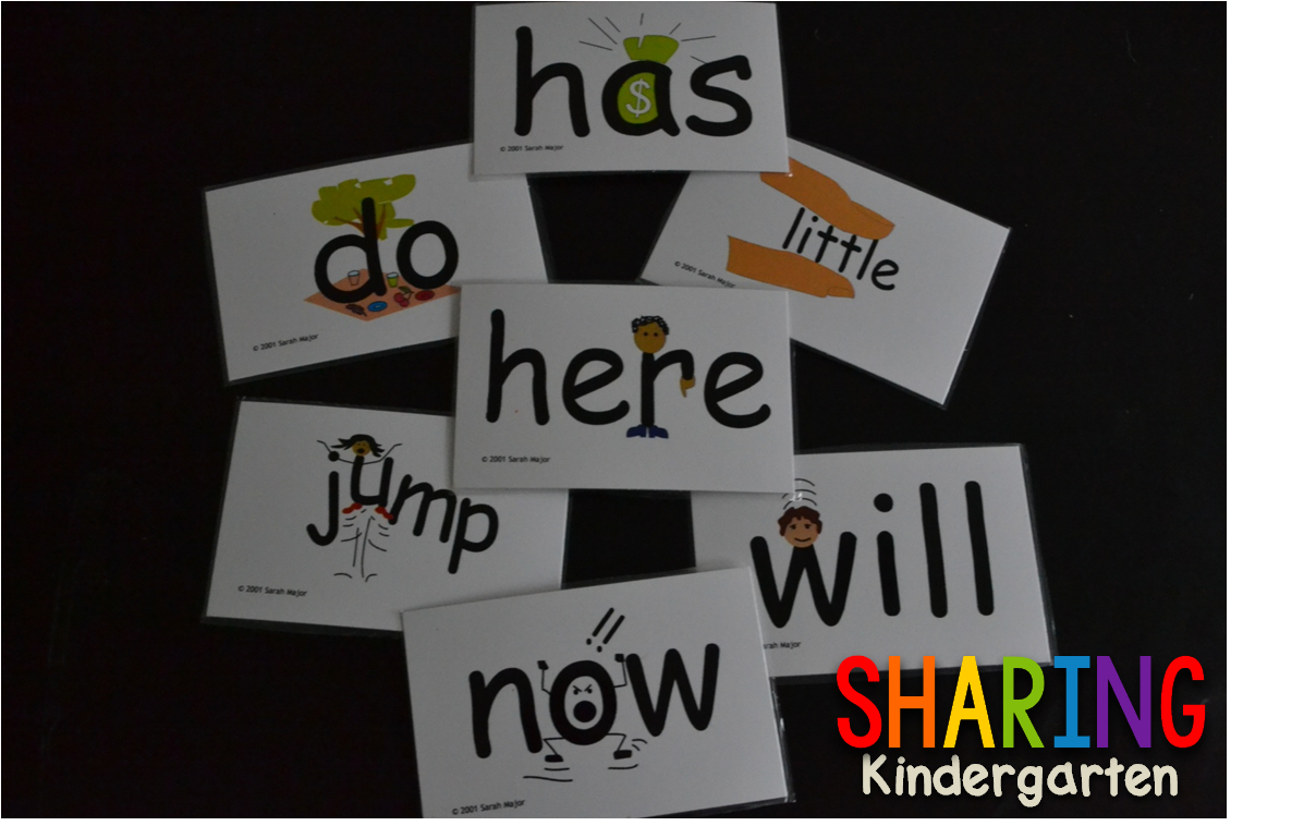 Snap Words Cards and Apps (Sharing Kindergarten) Snap