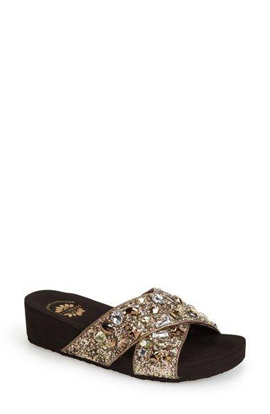 Yellowbox 'Galina' Crystal Embellished Platform Slide Sandal (Women) available at #Nordstrom