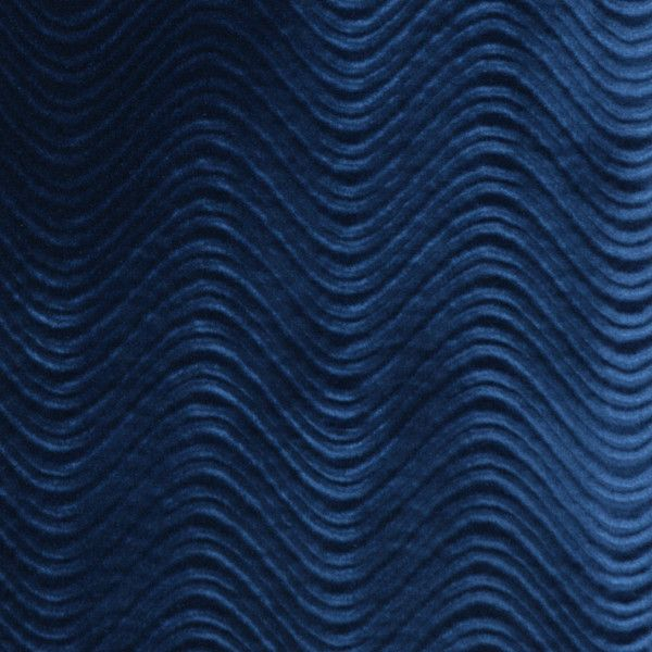 Blue Solid Plain Upholstery Velvet Fabric By The Yard