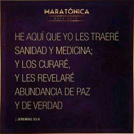 Él es nuestra medicina, nuestra salud.