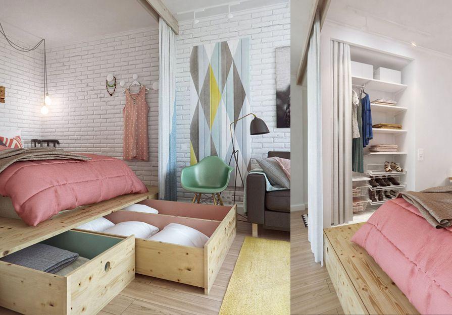 Opbergen onder het bed - Creatieve ideeën | Pinterest - Slaapkamer ...