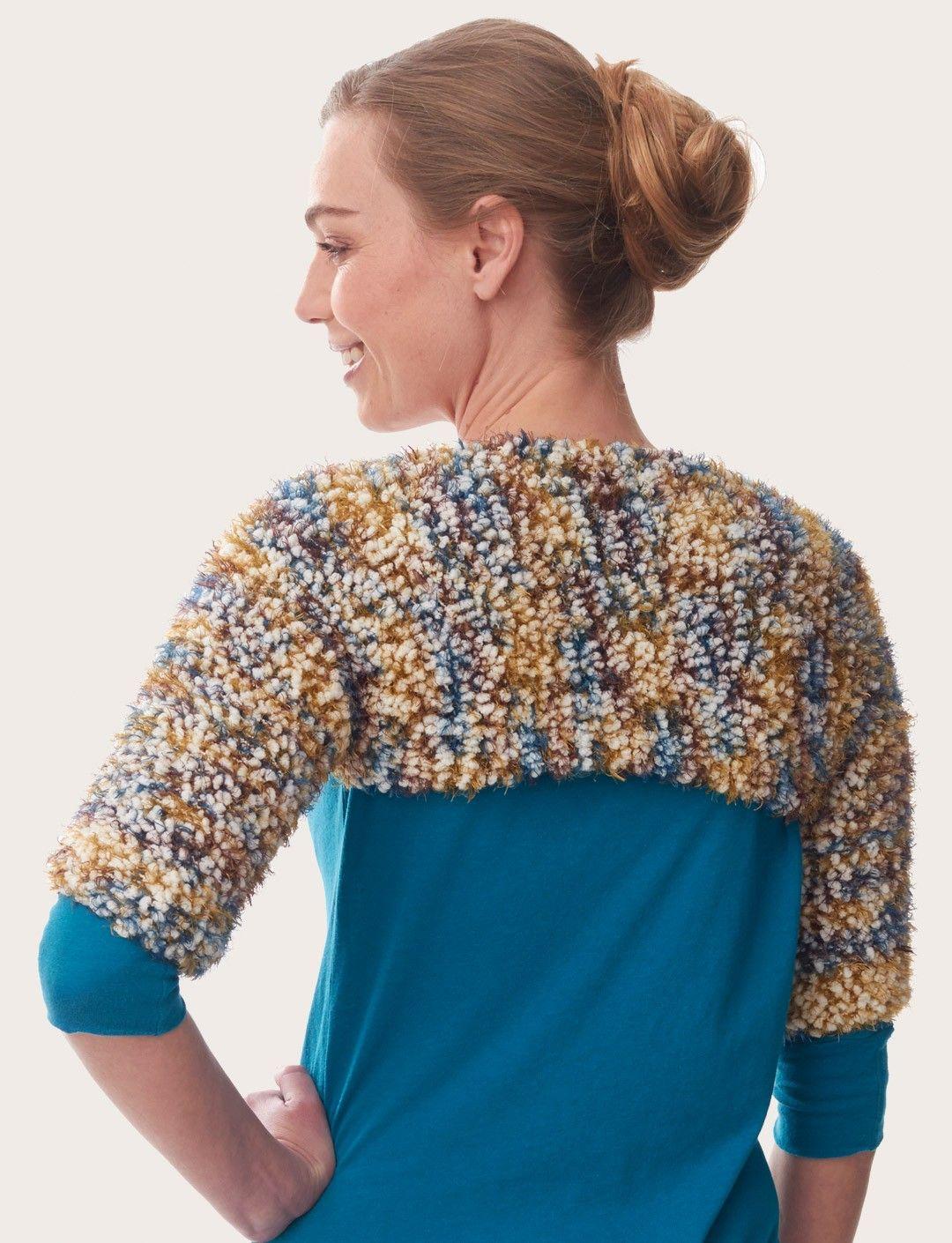 Yarnspirations bernat blissful shrug patterns knitting patterns bankloansurffo Image collections