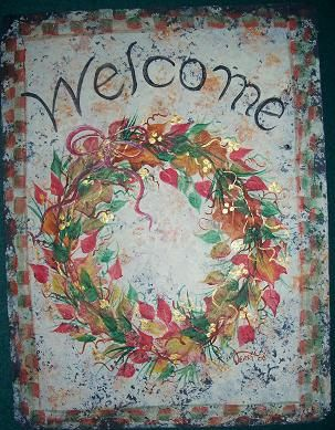 Hand painted PERSONALIZED Slate Welcome Sign by ABeautifulGift