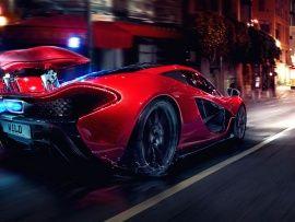 Red Mclaren P1 Night Wallpapers Free Desktop Wallpapers Sport Cars Super Cars Sports Cars