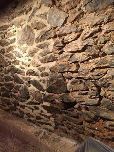 Repointing A Stone Wall With Lime Mortar Fake Stone Wall Stone Walls Interior Stone Wall