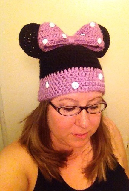 made to order . Adult size Mickey Mouse beanie  hat