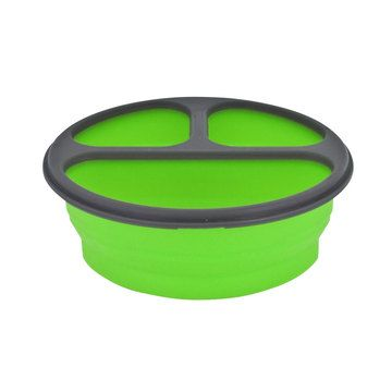 Meal Kit Large Green now featured on Fab. Love this. They have a lot more of these collapsible silicone lunch containers as well. How cool! Beats the old Tupperware divided dinner plate!