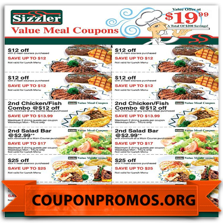 image regarding Sizzler Coupons Printable titled cost-free discount codes for sizzler for November December Discount coupons For
