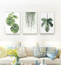 2 Size 11 Styles Nordic Minimalist Plants Canvas Art Print Poster Green Leaf Painting on Canvas Wall Pictures for Living Room Home Decor | Wish -   14 minimalist planting Art ideas