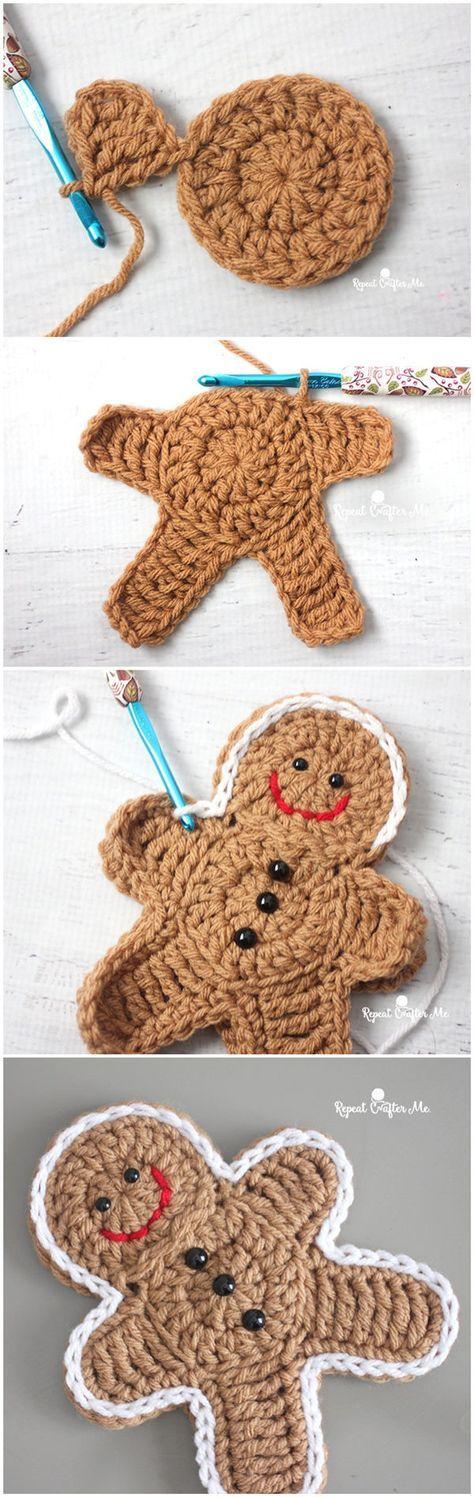 Crochet Gingerbread Man | crocheting for christmas | Pinterest ...