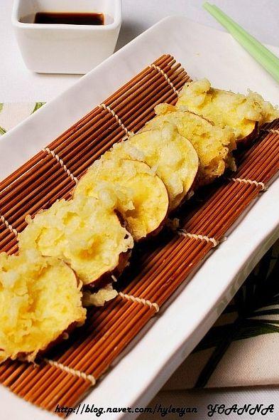 Deep-fried Korean Sweet Potato (고구마 튀김)