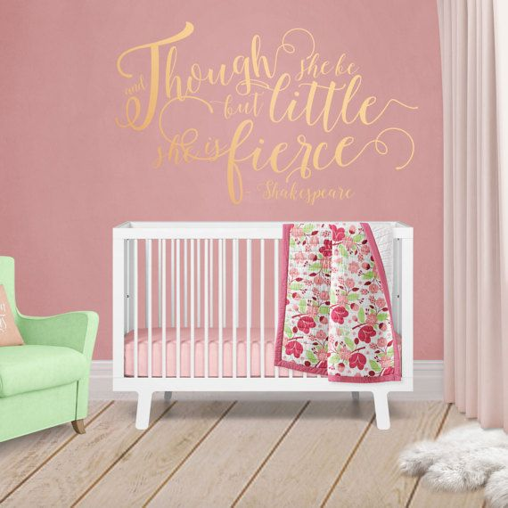 shakespeare nursery wall sticker though she be but little she is