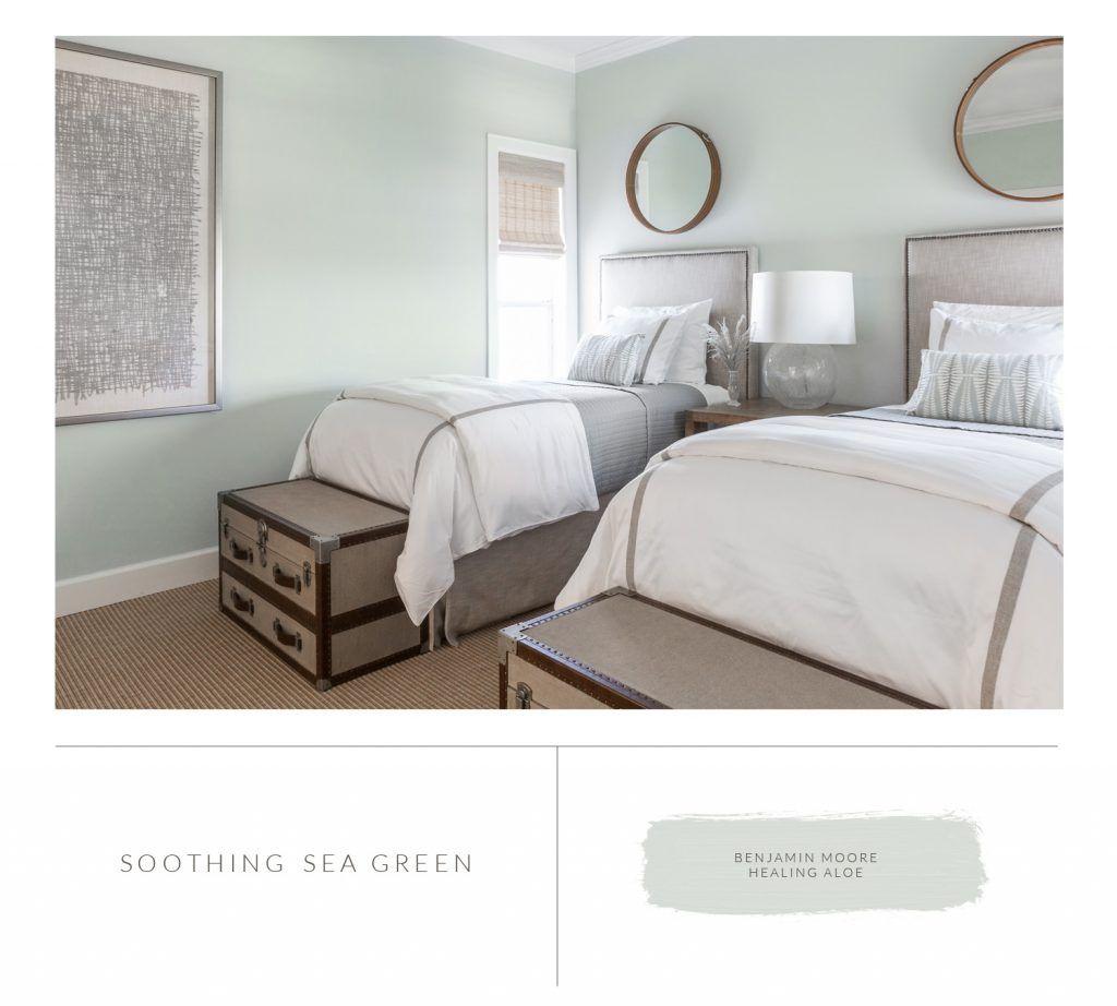 Marie Flanigan Interiors 8 Bedroom Paint Colors To Fit Any Mood Benjamin Moore Healing Aloe