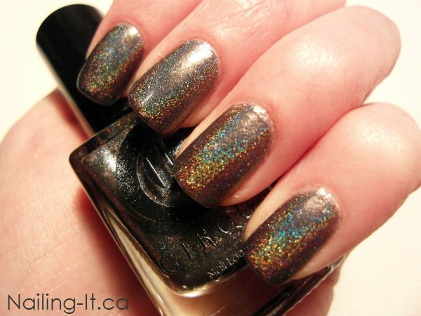 Cirque - Alchemy Collection - Magnum Opus. Charcoal holographic nail polish.