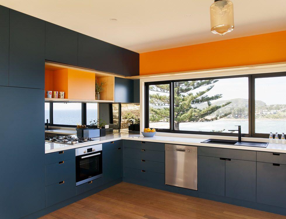 Diseño de casa de campo de un piso, combina madera y metal en su ...