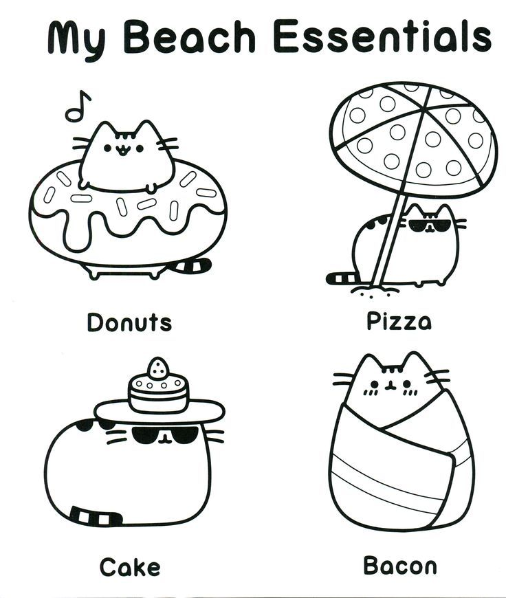 Gratifying image with pusheen coloring pages printable