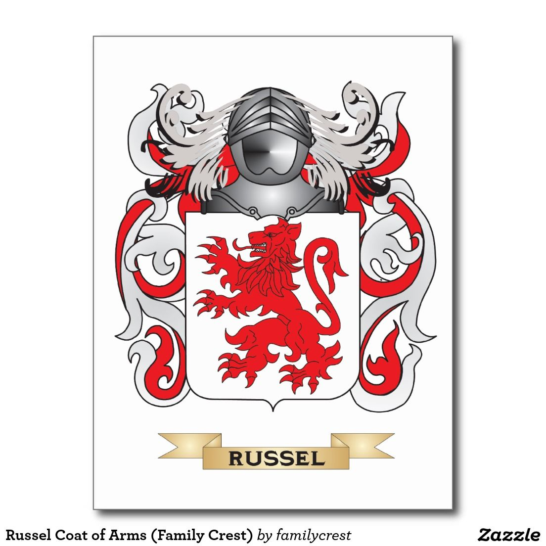 Russel coat of arms family crest postcard gift ideas pinterest russel coat of arms family crest postcard buycottarizona