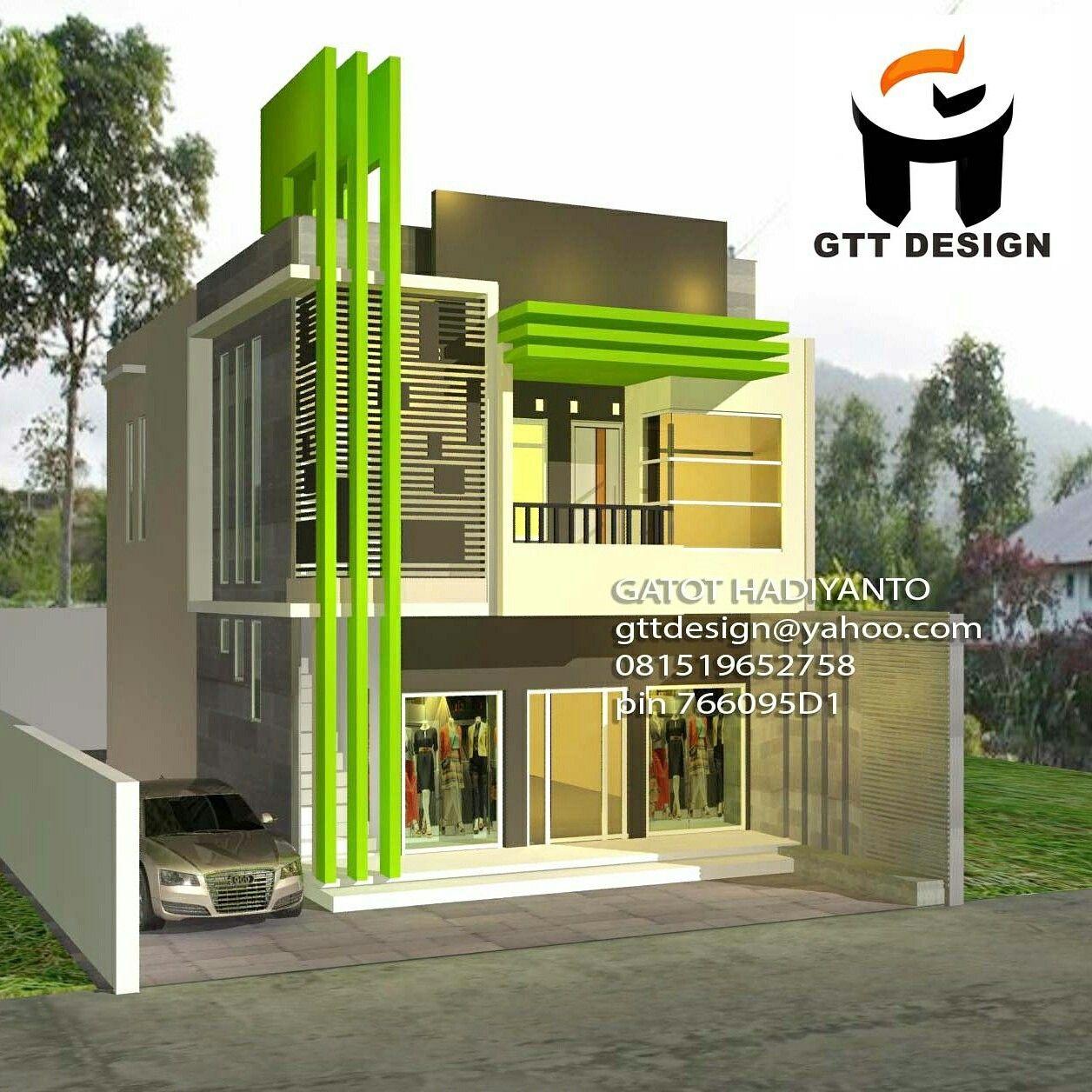 Desain Rumah Ruko 2 Lantai Cek Bahan Bangunan