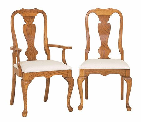 Swell Oak Queen Anne Dining Chairs Period Furniture Dining Dailytribune Chair Design For Home Dailytribuneorg