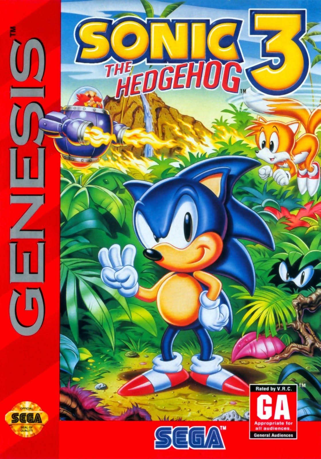 Sonic 3 Us Cover Art Sega Genesis Sonic The Hedgehog Sega Genesis Games