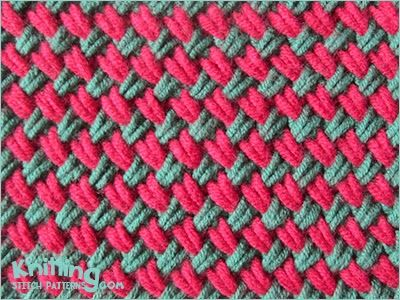 Adding Multiple Stitches Knitting : Woven Plait stitch is a dense stitch and pulls in considerably knit stitch ...