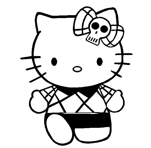 Hello Kitty Coloring Pages With Crayons : Hello kitty to color emo coloring pages