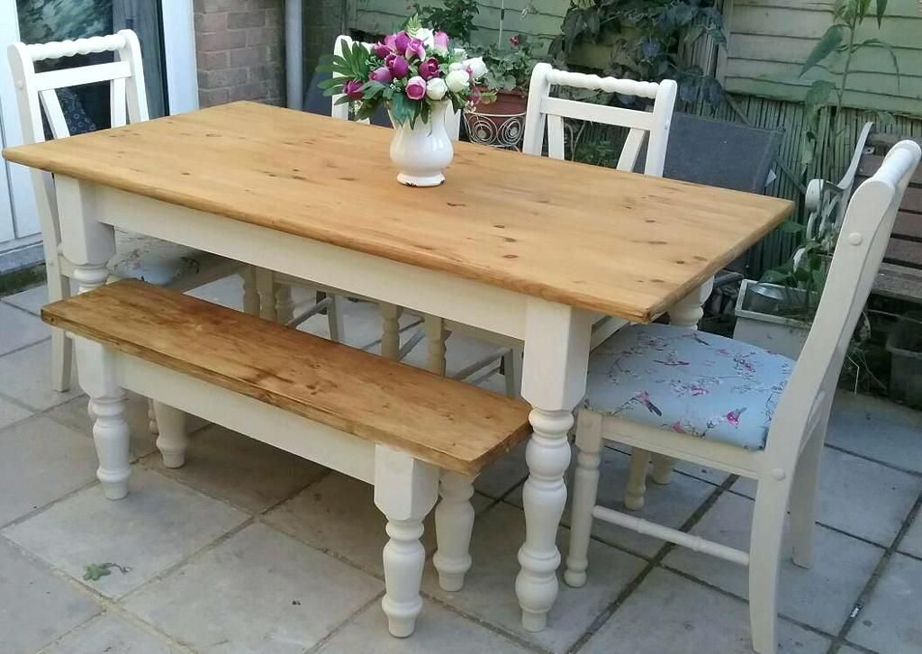 Image Result For Farm Dining Tables Shabby Chic Table And Chairs Shabby Chic Wall Decor Pine Dining Table
