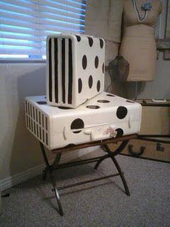 painted suitcases painted suitcases pinterest valises malle et maillots de bain. Black Bedroom Furniture Sets. Home Design Ideas