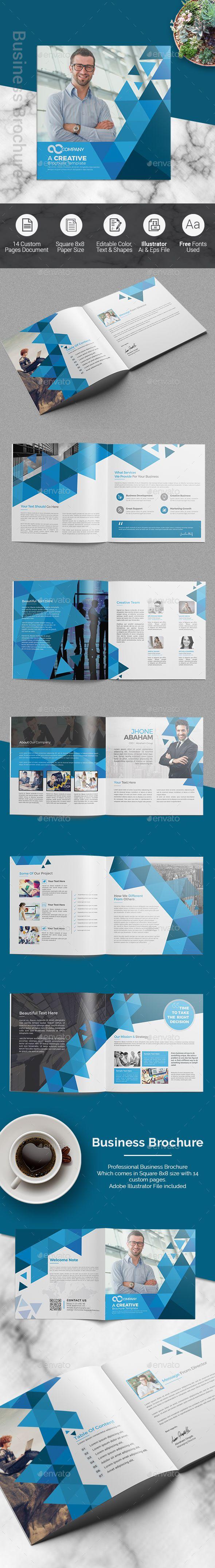 Square Business Brochure | Impresiones digitales, Empresas y Marcos