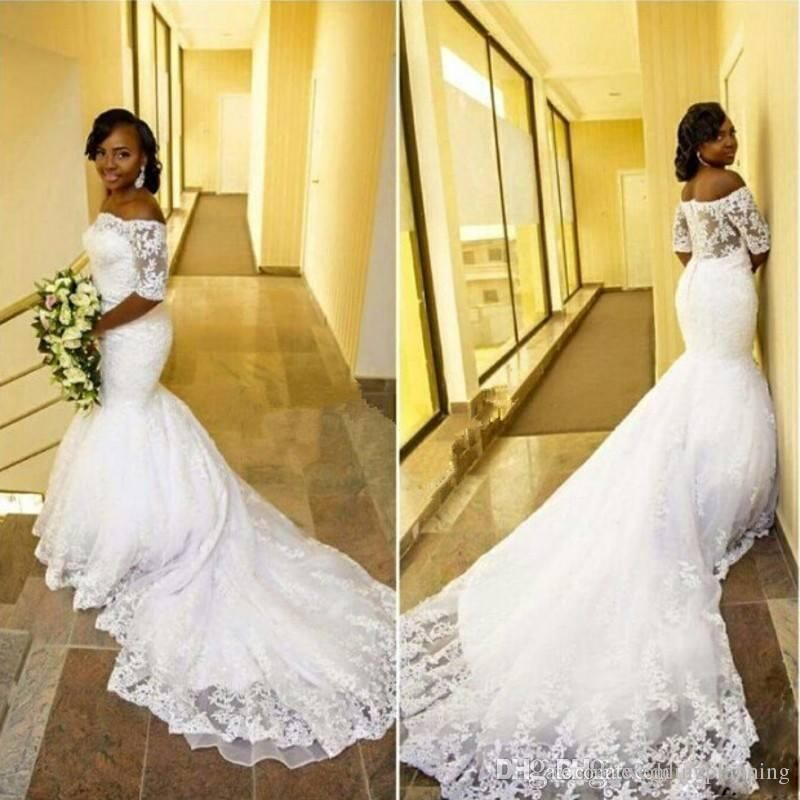 4166f0646 2017 Tulle Lace Black Girl South Africa Mermaid Wedding Dresses ...