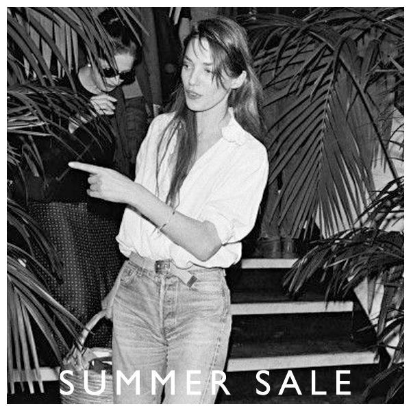 Jane knows where it's at // 30% off selected RYDER Summer styles online and in-store now #janebirkin #muse #summersale #ryderlabel