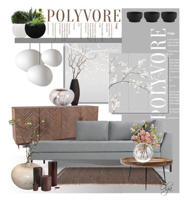 """""""Japanese Inspiration"""" by olga1402 ❤ liked on Polyvore featuring interior, interiors, interior design, home, home decor, interior decorating, Misha, Bliss Studio, Blu Dot and Kettal"""