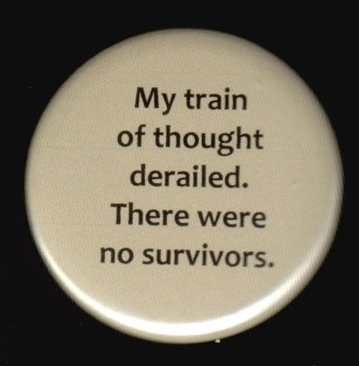 Train of Thought Button | Etsy