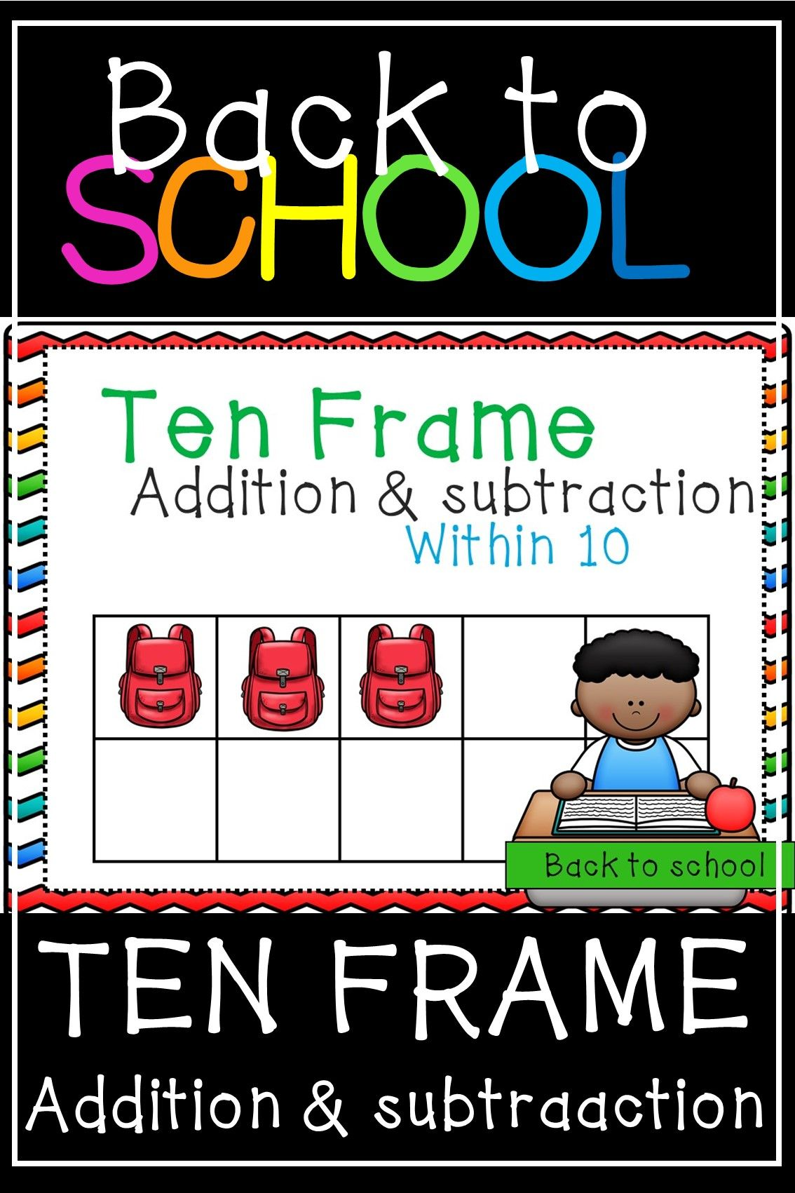 Back To School Math Ten Frames
