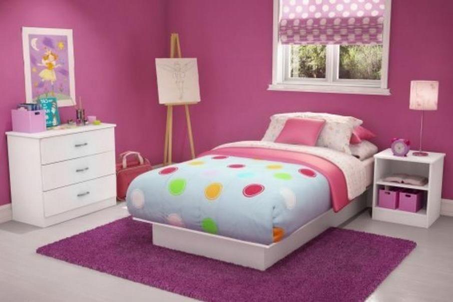 Decoración sencilla Habitación niñas | Cuartos | Habitaciones niña ...