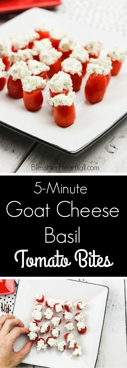These simple goat cheese basil tomato bites are a 5-minute recipe full of creamy…